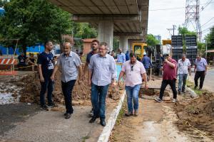 Prefeito Acompanha Obras Do Programa De Substituição De Redes Na Avenida Mauá